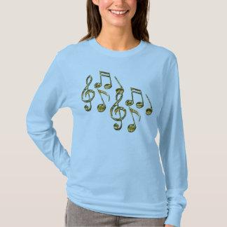 La camisa del amante de la música de las notas