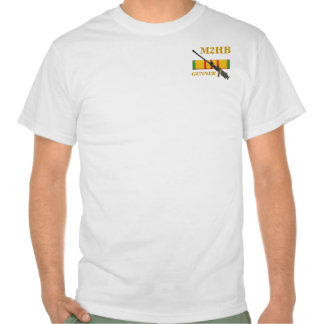 La camisa del artillero de máquina de M2HB
