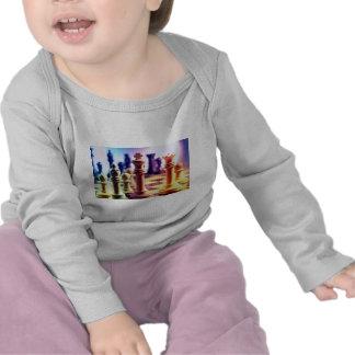 La camisa del bebé del juego de ajedrez