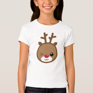 La camisa del chica del reno de Kawaii