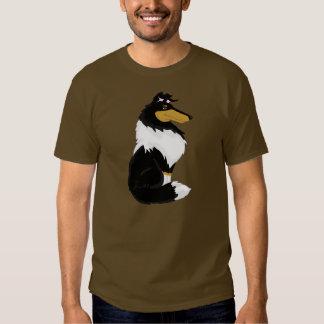 La camisa del collie de los hombres ásperos
