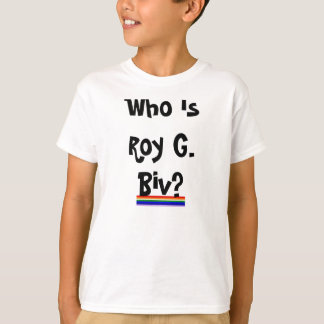 La camisa del niño de Roy G. Biv Rainbow