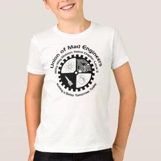 La camisa del niño enojado de los ingenieros