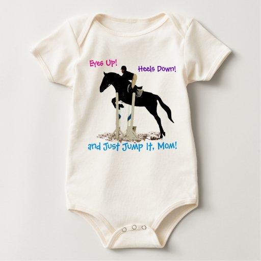 La camisa divertida del niño ecuestre del