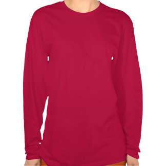 La camisa Longsleeve de las mujeres rojas de