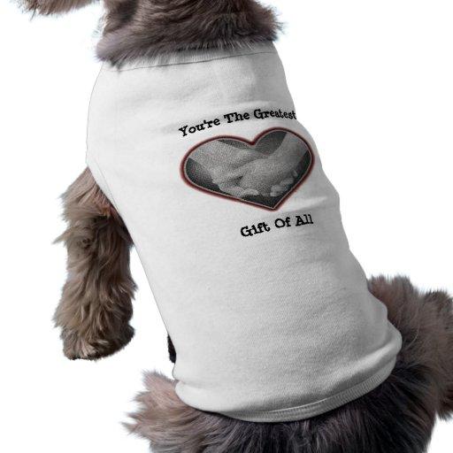 La camisa más grande del perro del regalo playera sin mangas para perro
