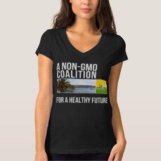 La camisa negra de las mujeres GMO-Libres del