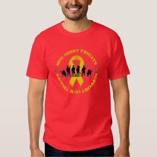 La camisa roja viernes apoya nuestra camiseta de