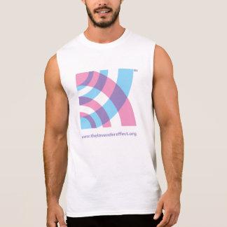 La camisa sin mangas de la marca del efecto de la