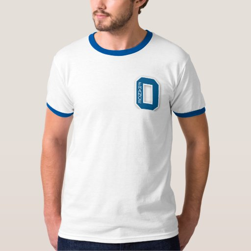 La camiseta 1 del ganador de una letra americano