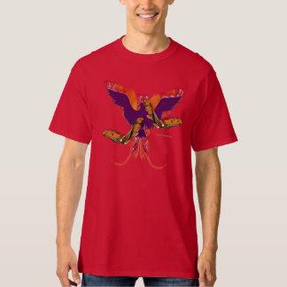 La camiseta alta de los hombres en llamas de Phoen Playeras