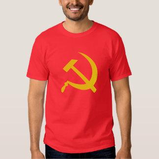 La camiseta (amarilla) de los hombres del martillo remeras
