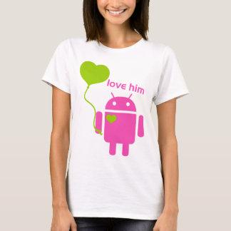 La camiseta básica de las mujeres androides
