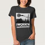 La camiseta básica de las mujeres de Barcelona Playeras