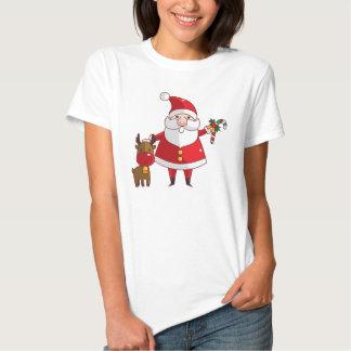 La camiseta básica de las mujeres de Santa de las Playera