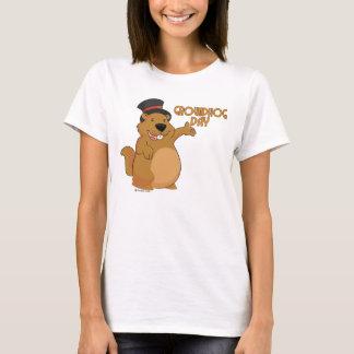La camiseta básica de las mujeres del día de la