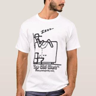 La camiseta básica del oeste vieja