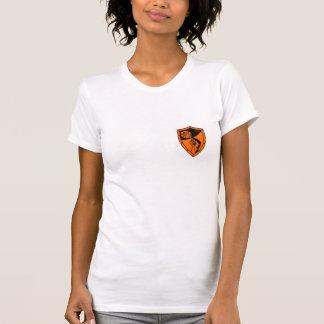 La camiseta bilateral de las mujeres