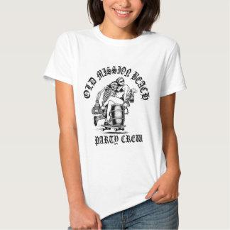La camiseta blanca de las mujeres del equipo del