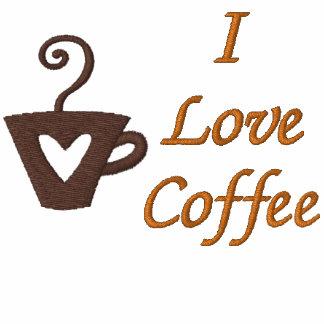La camiseta bordada del amante de encargo del café