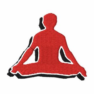 La camiseta bordada yoga de los hombres