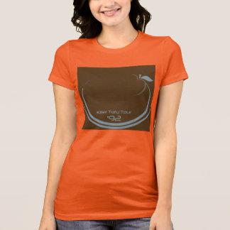 La camiseta Brown amarillo del viaje del queso de