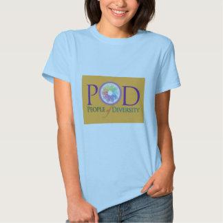 La camiseta cabida de las mujeres - gente de la poleras