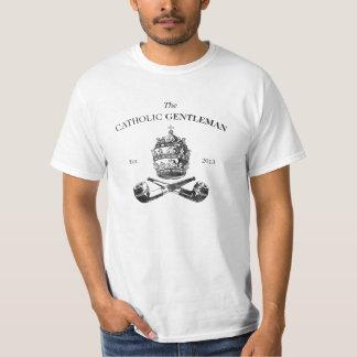 La camiseta católica del caballero camisas