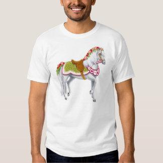 La camiseta color de rosa del caballo poleras