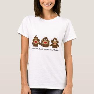 La camiseta de 3 del calcetín mujeres sabias de