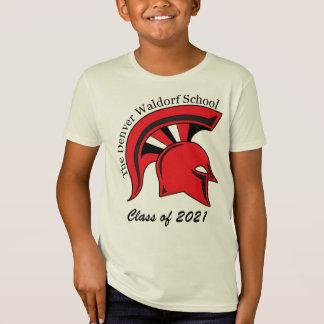 La camiseta de algodón orgánica de los niños