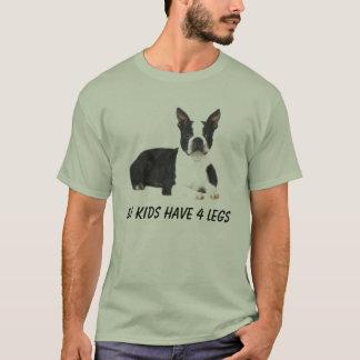La camiseta de Boston Terrier mis niños tiene 4