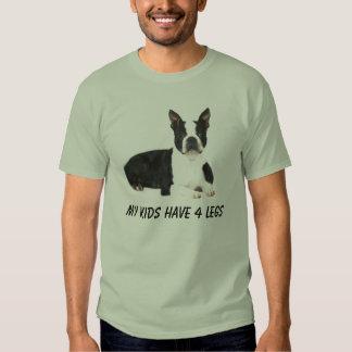 La camiseta de Boston Terrier mis niños tiene 4 Poleras