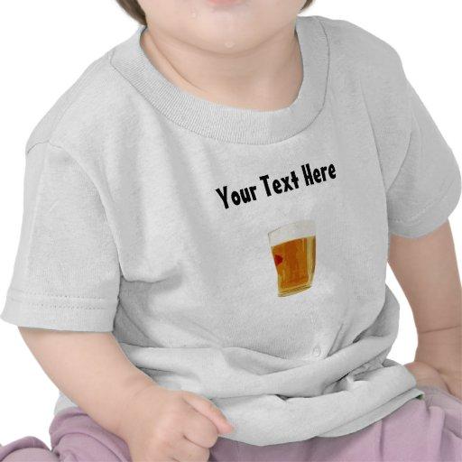 La camiseta de cerveza del bebé de oro lleno adapt