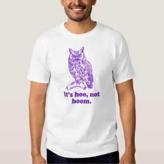 La camiseta de Hoo no Hoom del búho de la Remeras