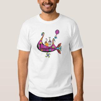 La camiseta de Imaginarium detrás mecanografía Polera
