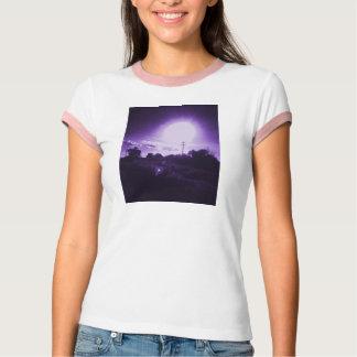 La camiseta de la cosecha de la mujer púrpura de camisas
