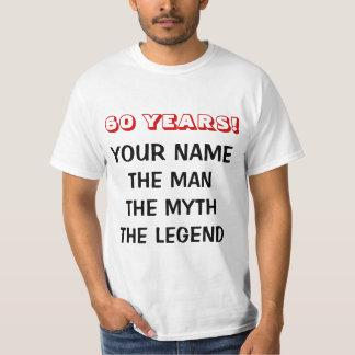 La camiseta de la leyenda del mito del hombre para playera