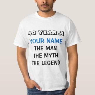 La camiseta de la leyenda del mito del hombre para playeras