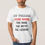 La camiseta de la leyenda del mito del hombre para poleras