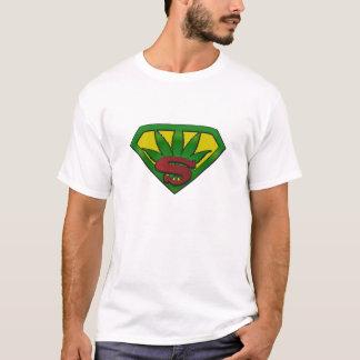 La camiseta de la mala hierba de los hombres