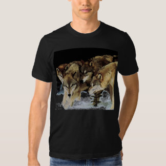 La camiseta de la manada de lobos playeras