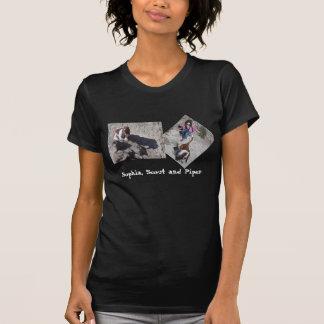 La camiseta de la mujer con los perros de aflorami