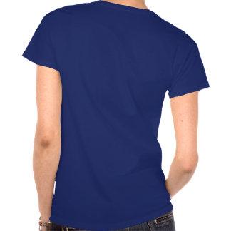 La camiseta de la mujer corriente de los caballos