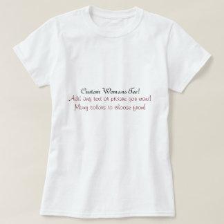 La camiseta de la mujer de la fuente de encargo camisas