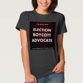 La camiseta de la mujer del boicoteo de la playera