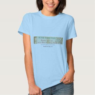 La camiseta de la mujer del café de la opinión del playeras