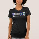 La camiseta de la mujer del cerebro de la neurolog