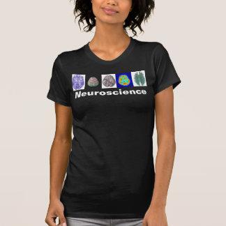 La camiseta de la mujer del cerebro de la playeras
