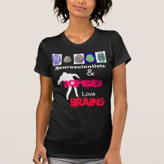 La camiseta de la mujer del cerebro del zombi playeras